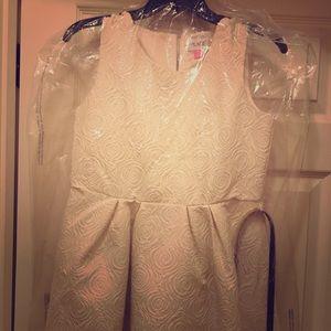 Adorable cream rose impress girls dress